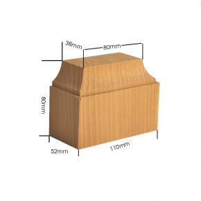 Holzapplikation Breite 110mm Höhe 80mm Tanne Buche Eiche
