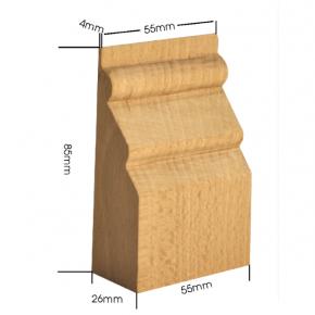 Holzapplikation Breite 55mm Höhe 85mm Tanne Buche
