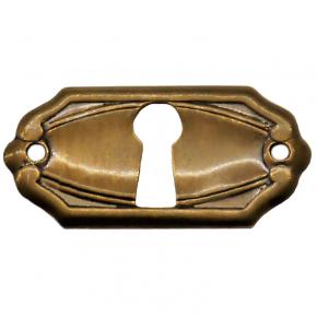 Schlüsselschild Messingblech 40 x 20mm