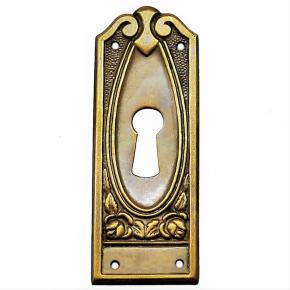 Schlüsselschild Messingblech 25 x 70mm