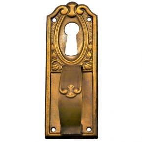 Griffschild mit Schlüsselloch Messingblech 25 x 70mm