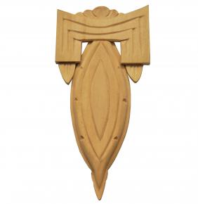 Holzzierteil Linde Breite 68mm Höhe 140mm