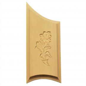 Holzzierteil Linde Breite 55mm Höhe 133mm