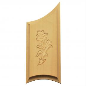 Holzzierteil aus Linde Breite 55mm Höhe 133mm