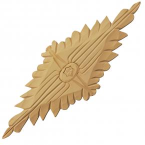 Holzzierteil Linde Breite 280mm Höhe 95mm