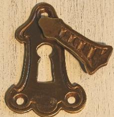 Schlüsselrosette  Länge 65mm Breite 40 mm