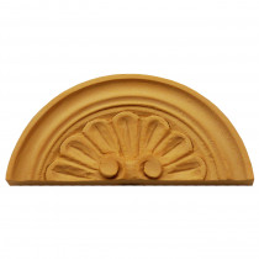 Holzaufsatz Muschel Linde 130 x 60mm