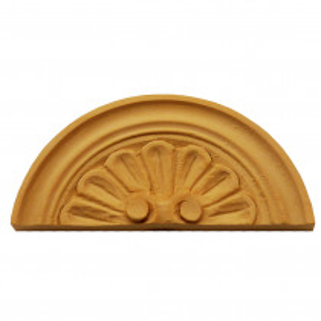 Holzaufsatz Muschel Linde 100 x 45mm