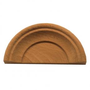 Holzaufsatz Muschel Buche 120 x 60mm