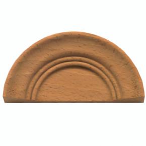 Holzaufsatz Muschel Buche 90 x 45mm