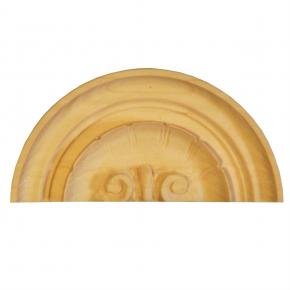 Holzaufsatz Muschel Linde 125 x 60mm