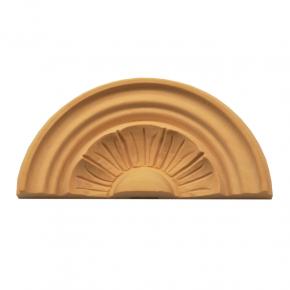Holzaufsatz Muschel Linde 155 x 70 mm Artikel 1260