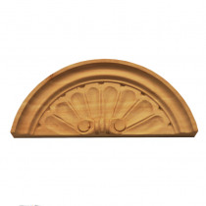 Holzaufsatz Muschel Linde 215 x 87 mm Artikel 1230