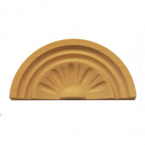 Holzaufsatz Muschel Linde 148 x 68 mm Artikel 1217